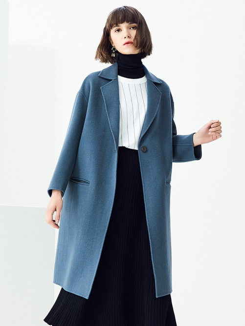 Double-faced Woolen Coat for Women