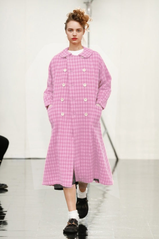 18/19 A/W Women's Pink Overcoat - Tricot Comme Des Garcons