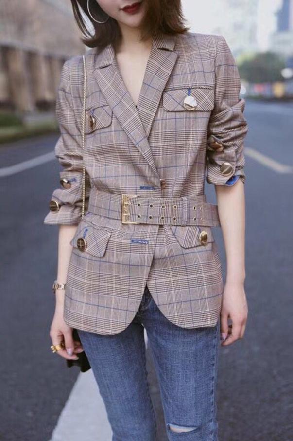 check coat for girl