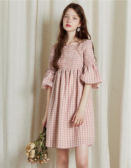 Plaid girl's dress