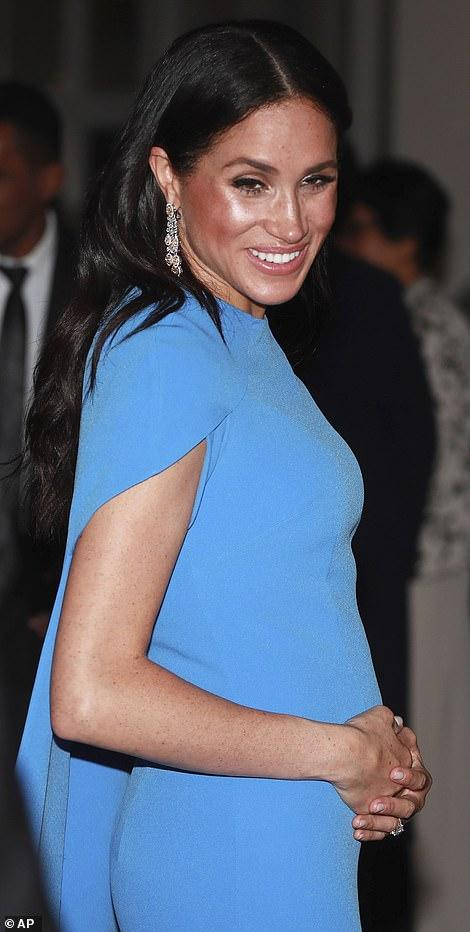 Meghan Markle's blue evening dress