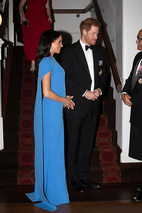 Meghan Markle's who wear blue evening dress