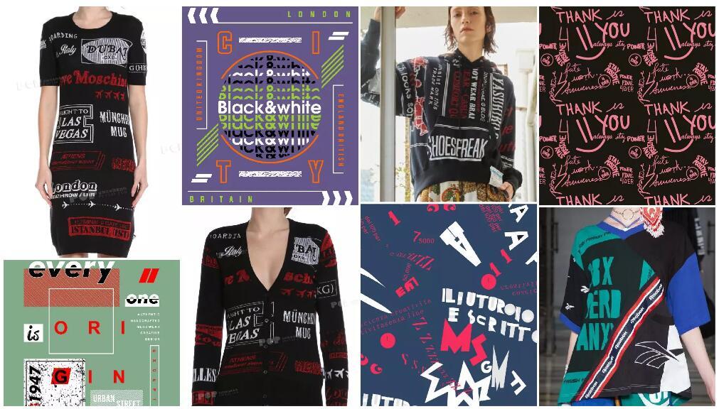 All-over Words women's knitwear