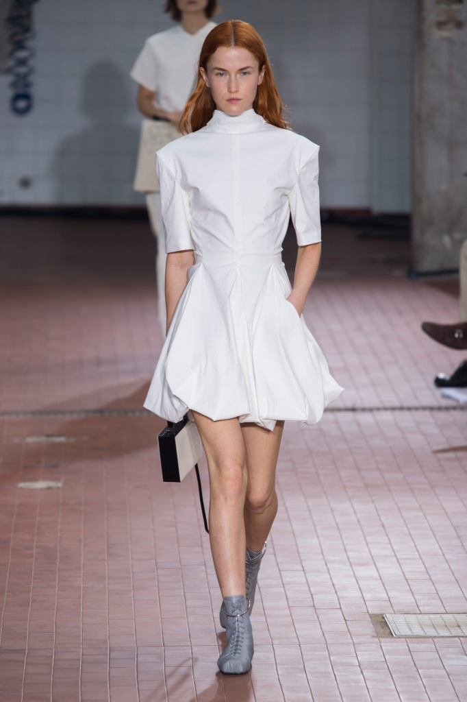 JilSander style white dress