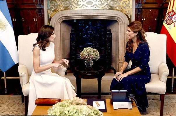 Letizia and the first lady of Argentina