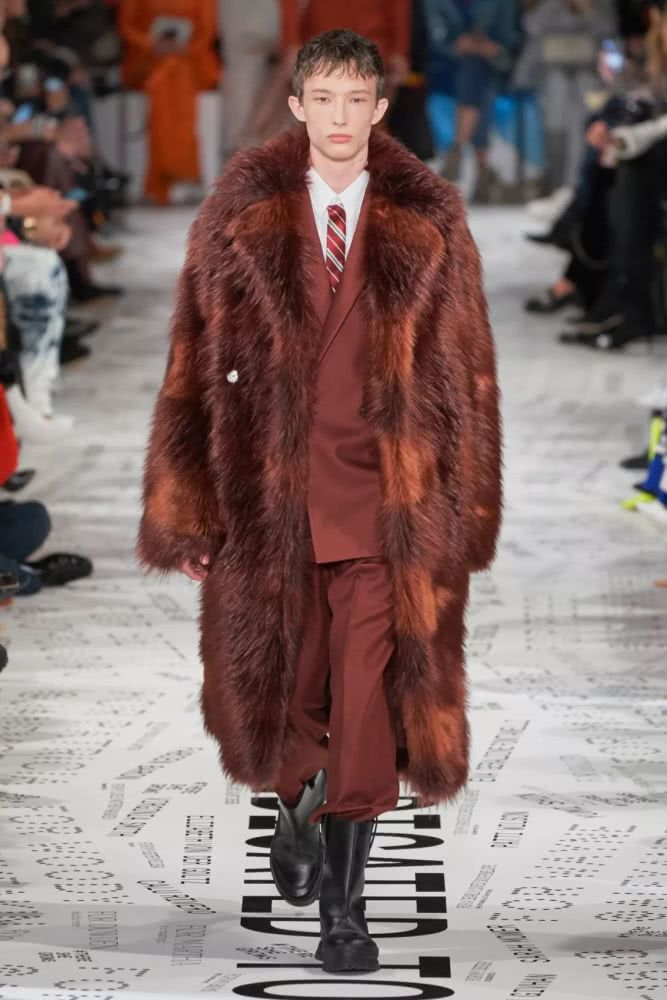 red fur for men
