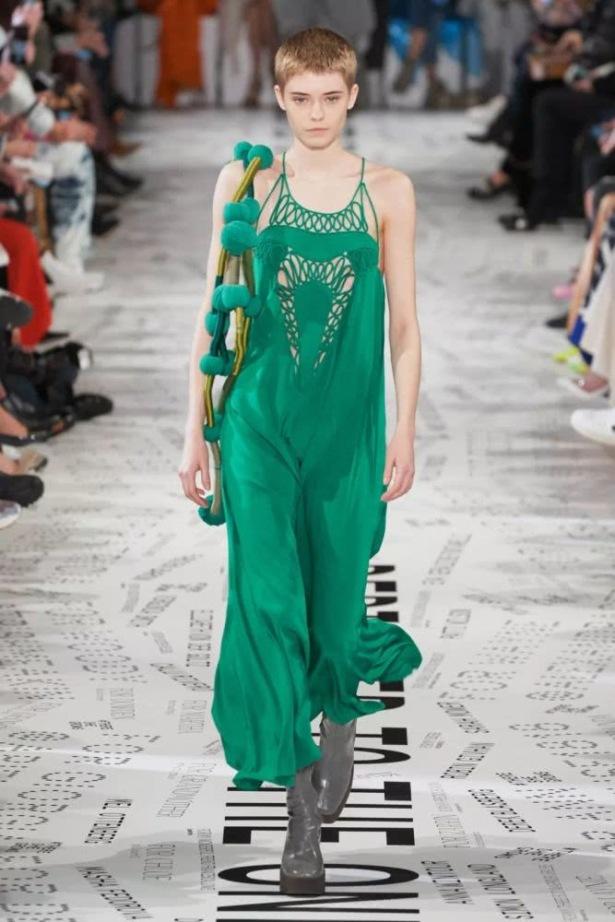 long sexy green dress