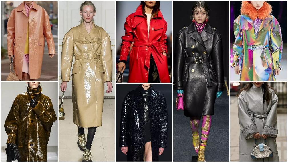 Drop Shoulder Leather Overcoat