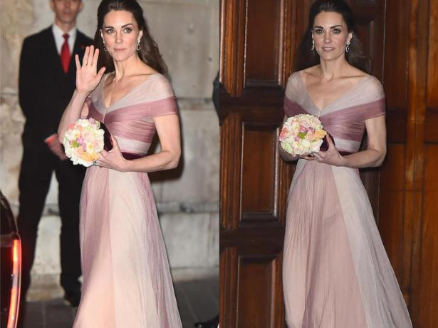 kate's pink evening dress