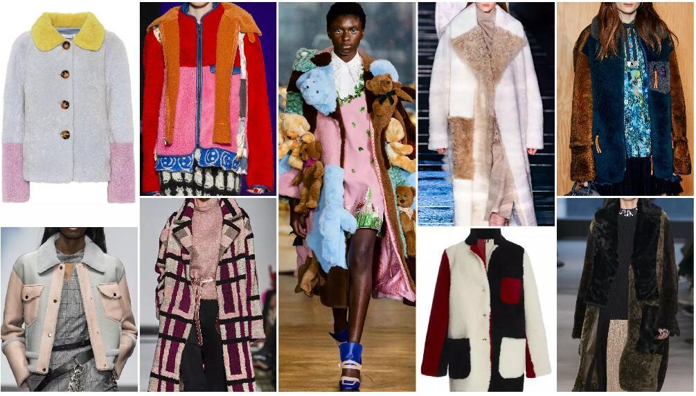 large color blocks fashion fur style