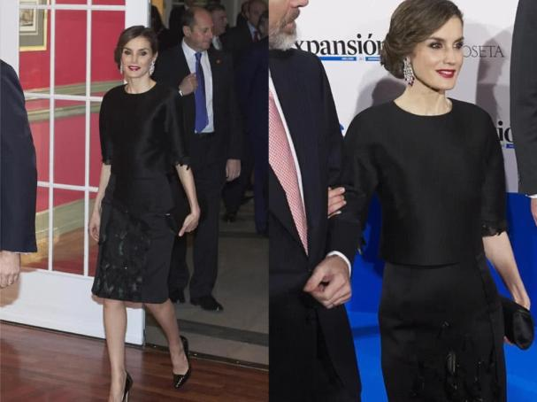 Queen Letizia's black dress