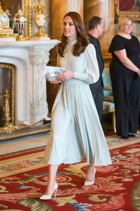 Princess Kate's green long dress