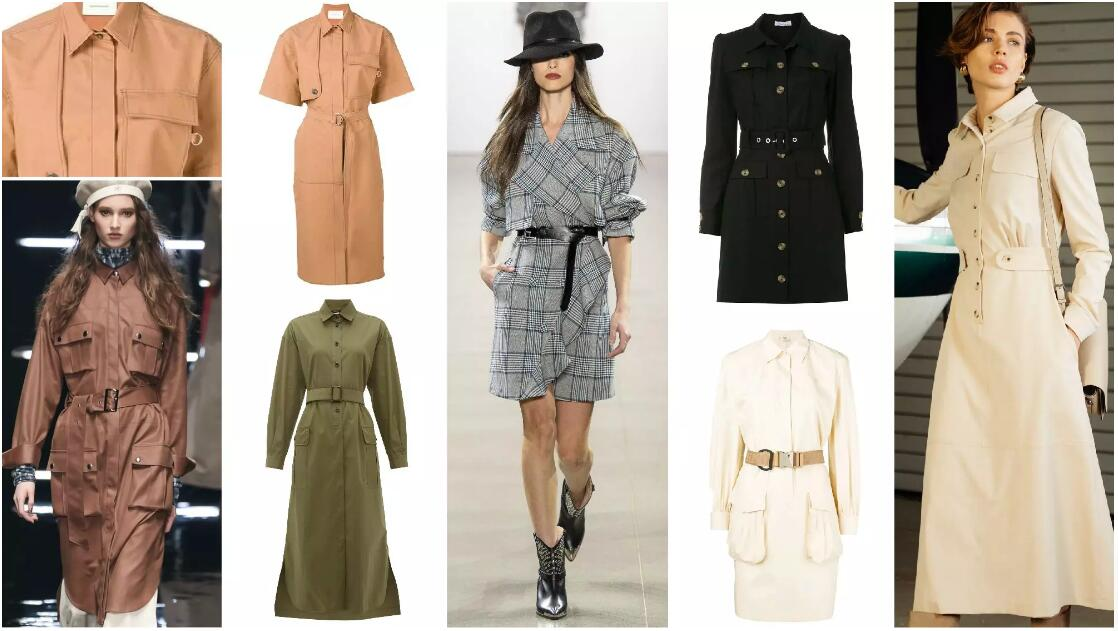 Trenchcoat-Style Dress