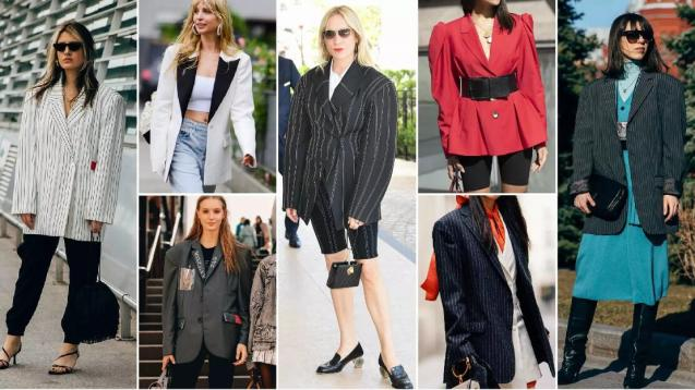 Wide-Shoulder Blazers