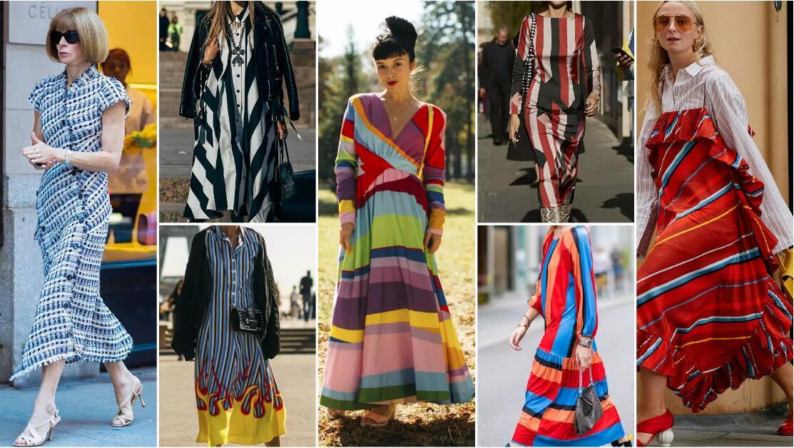 Colorful Stripes fashion dresses.jpg