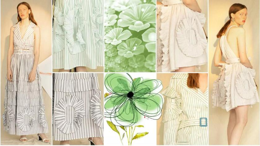 Floral Pleats fashion trend styel