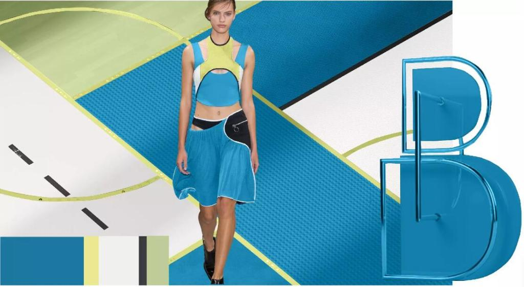 blue fsahion dress