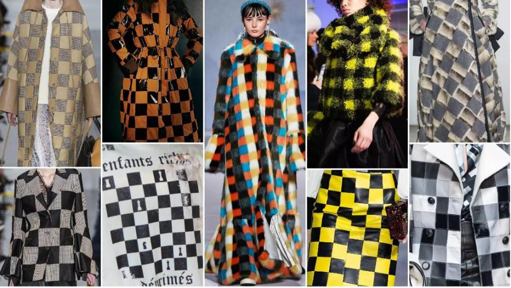 Checker fashion trend style fur
