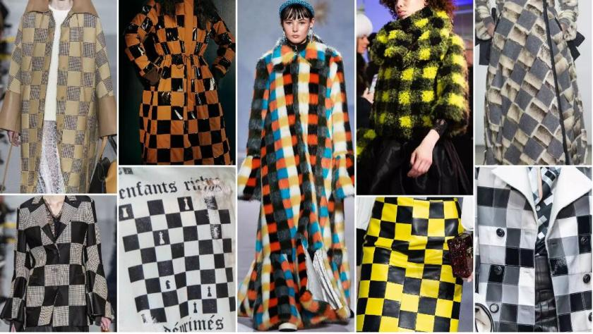 Checker fashion trend style fur
