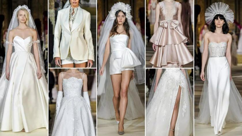 Delicate Satin wedding dresses