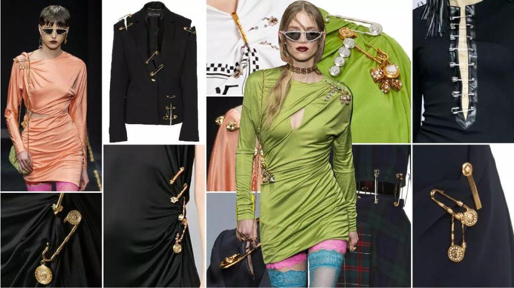 Metallic Pins fashion clothing accessory