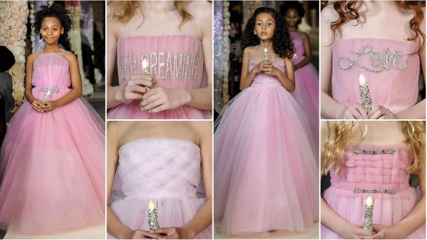 pink girl's dresses