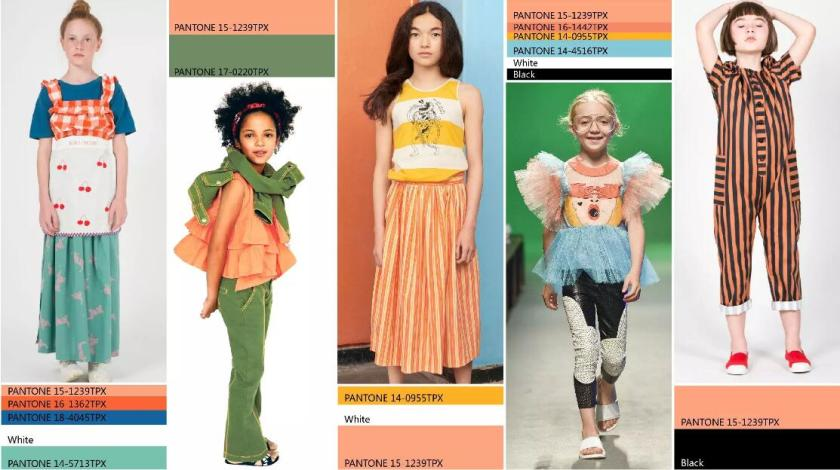 Summer 2020 Trends.Cantaloupe Of Spring Summer 2020 Color Trend For Girls