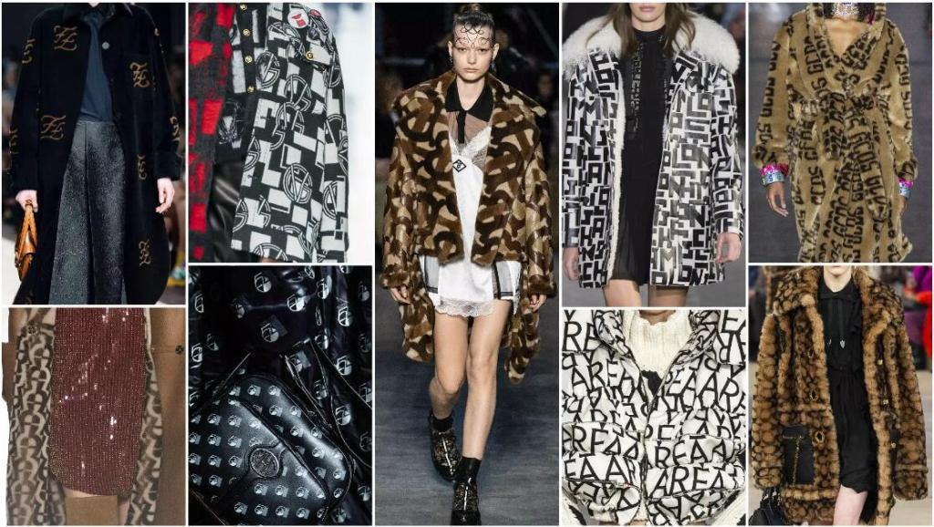 renew logo fashion trend style fur