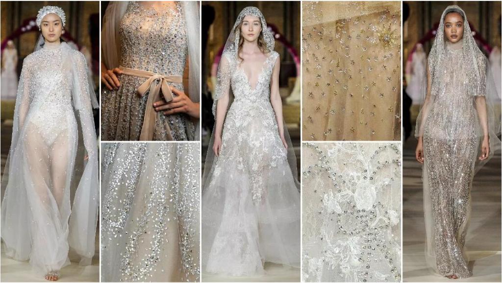 Sequins wedding dresses