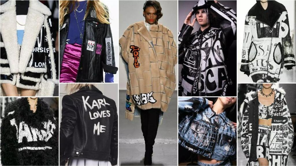 Street Fashion Letters fashion trend style fur
