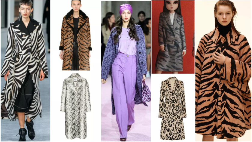 Animal Print Wools coat