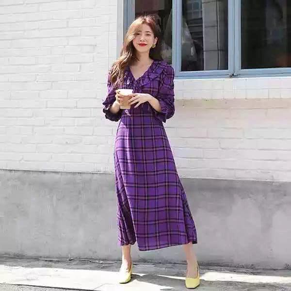 cassis purple check dress.jpg