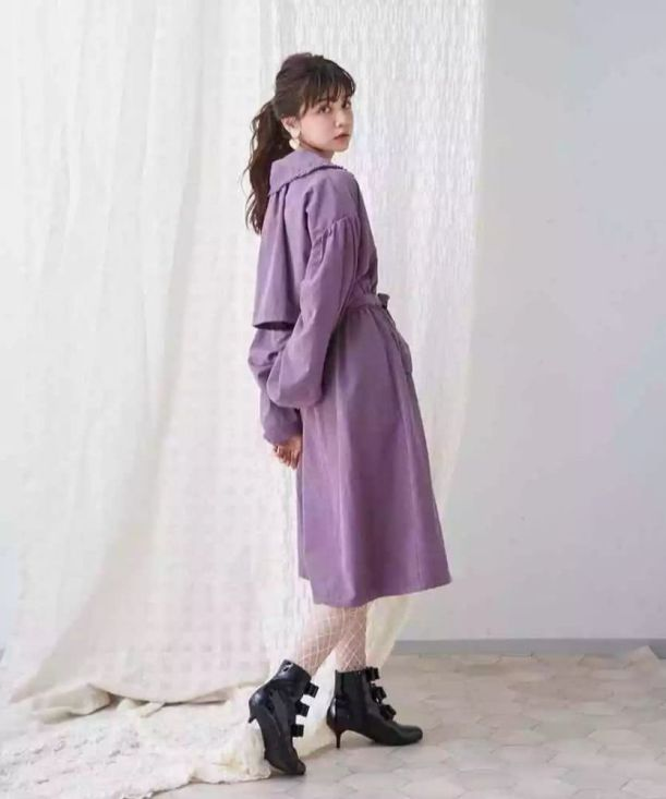 cassis purple coat