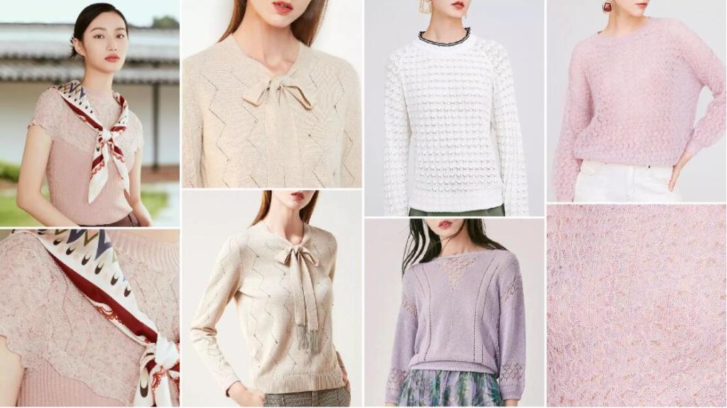 Fresh Pointelle fashion sweater