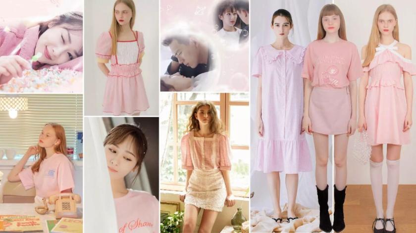 Pink girl's dress