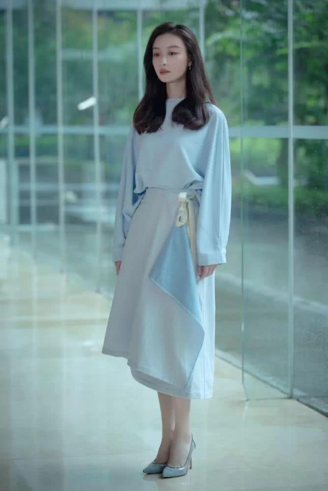 purist blue long dress