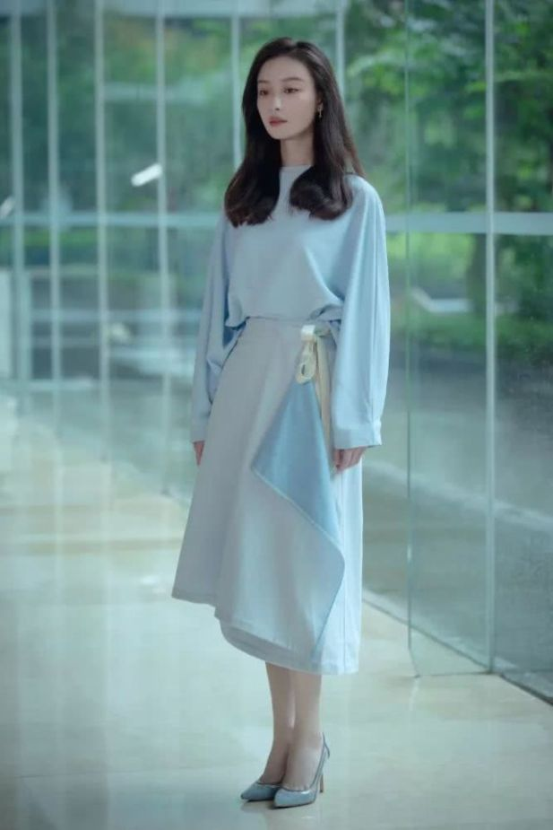 purist blue long dress