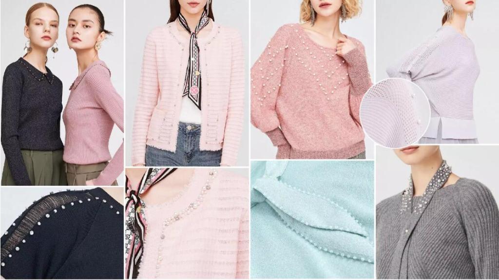Rhinestones fashion sweater