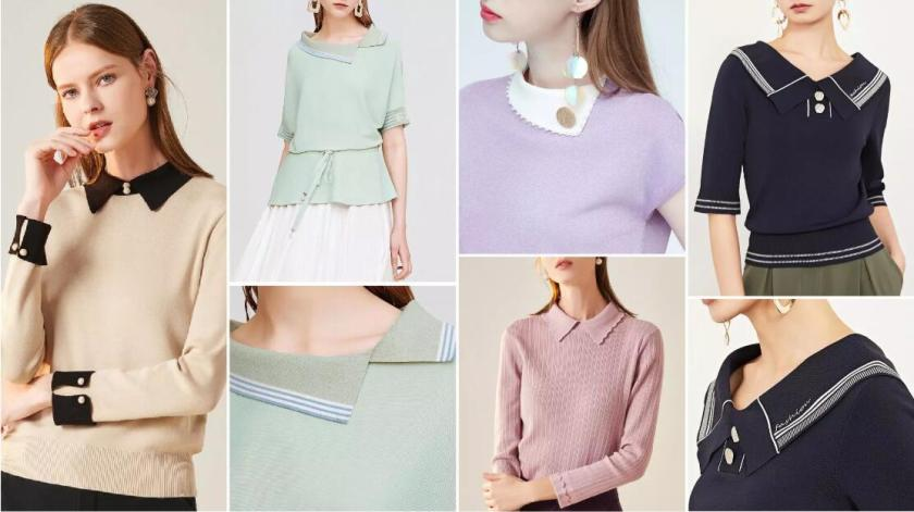Simple Collars fashion sweater