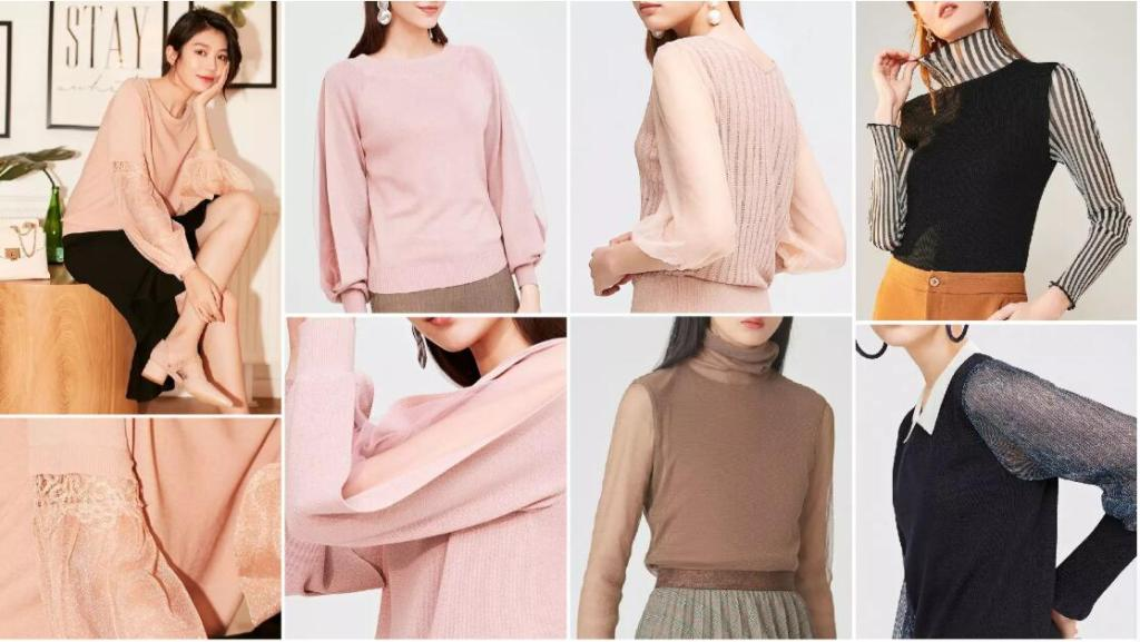 Subtle and Graceful Splicing sweater