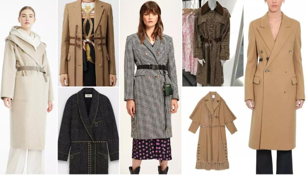The Decorative Belt fashion coat