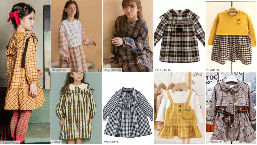 checks fabric fashion style