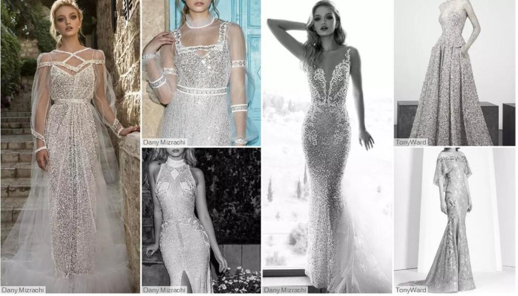 Dense Placement wedding dresses