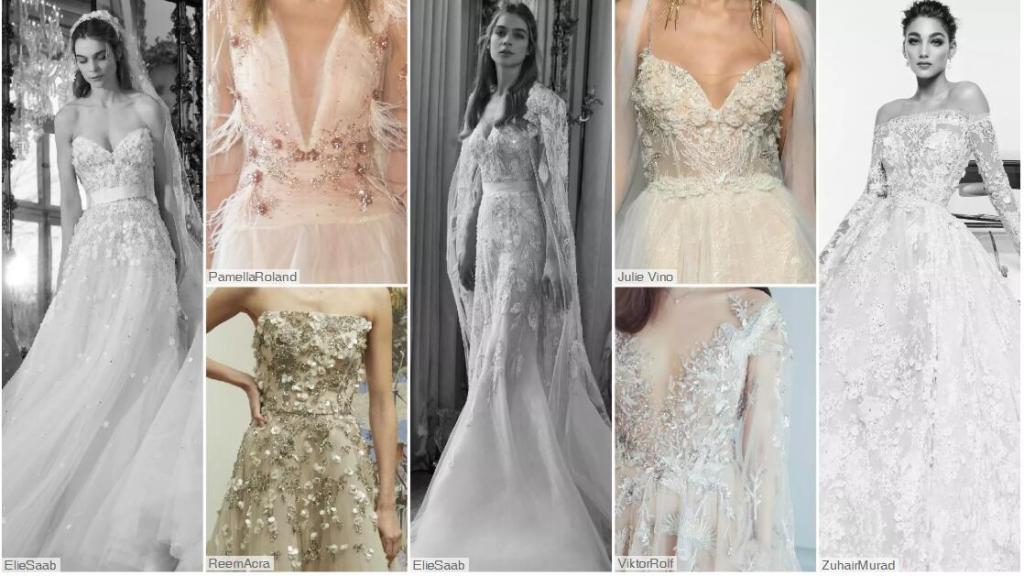Flower & Sequin wedding dresses