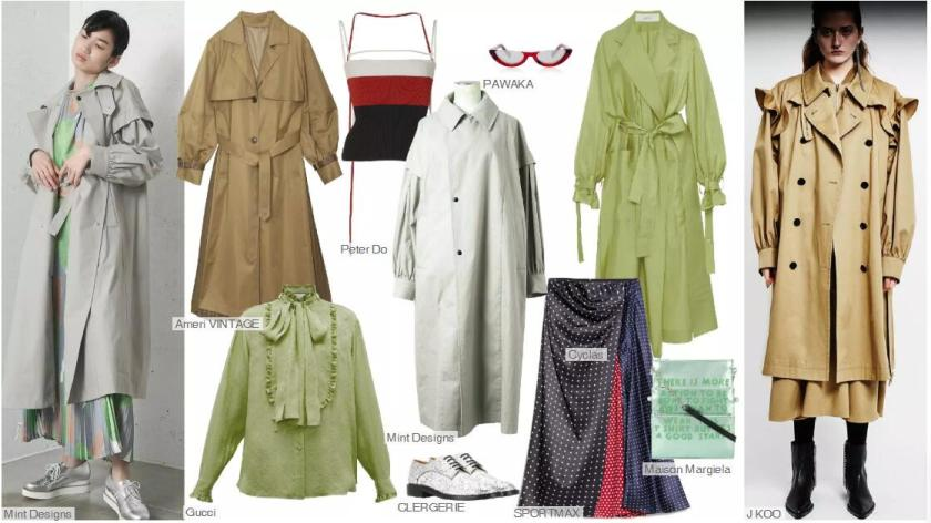 The Trench Coat With Shirring Sleeves