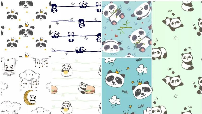 Cartoon Giant Panda All-over