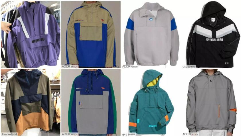 Color-blocked Pullover Jackets