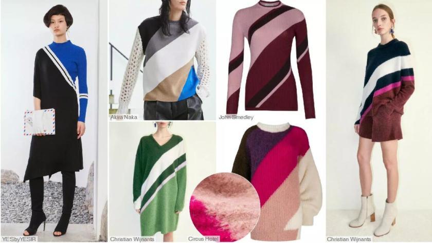 Diagonal Color Blocking