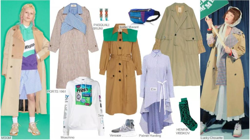 The Color-blocking Trench Coat