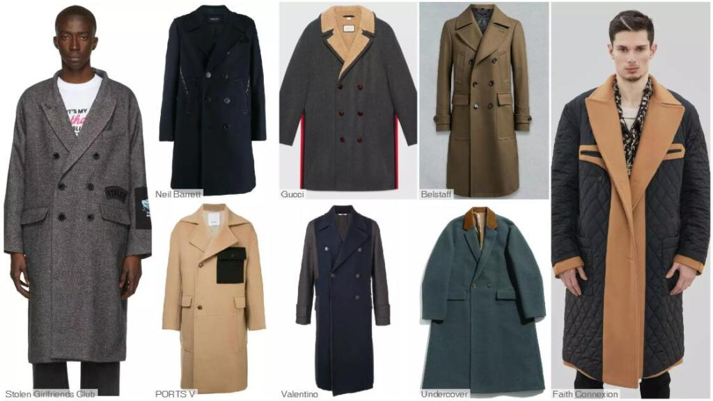 The Double-Breasted Mid-Length Coat -- Plain Wools